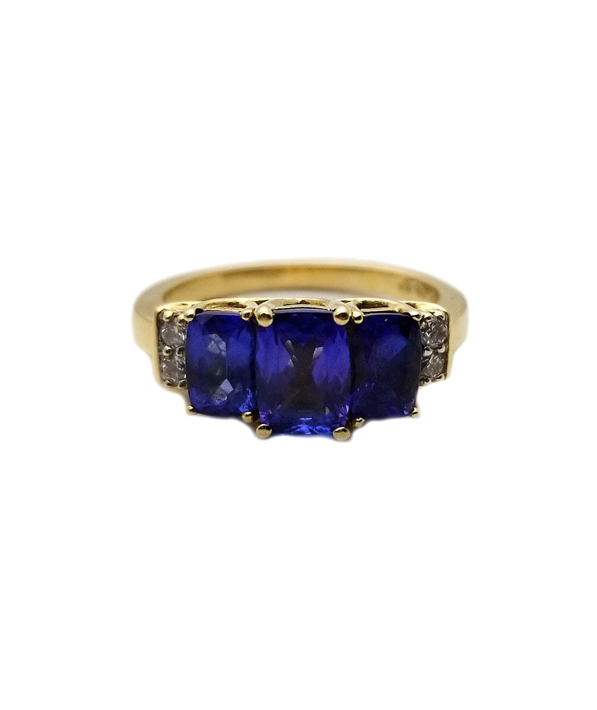 14k .08 Diamond, Tanzanite Fashion Ring