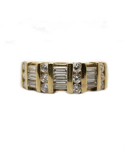 14k: 1.38ctw Diamond Fashion Ring
