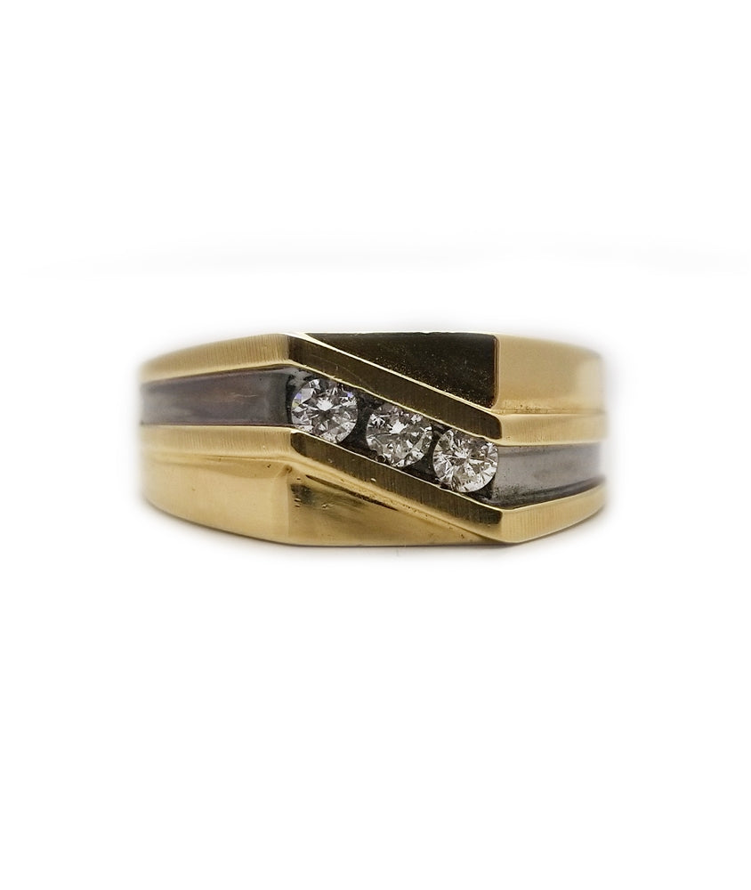 14k Men's Diamond Ring/Band