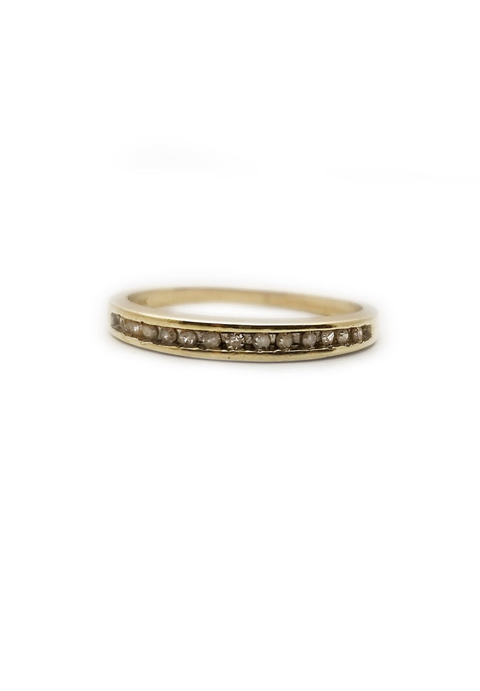 10k .13ctw Diamond Wedding Band