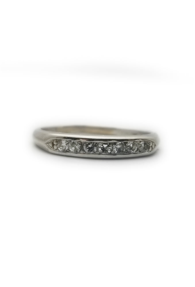 Platinum .21ctw Diamond Wedding Band