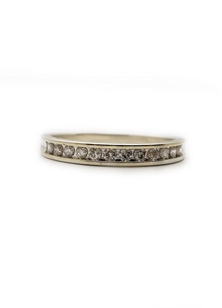 10k .24ctw Diamond Wedding Band