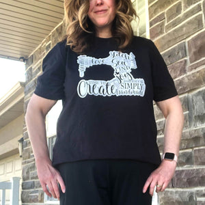 Black Sew T-Shirt Size XL