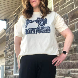 SEW ON CREAM AND NAVY
