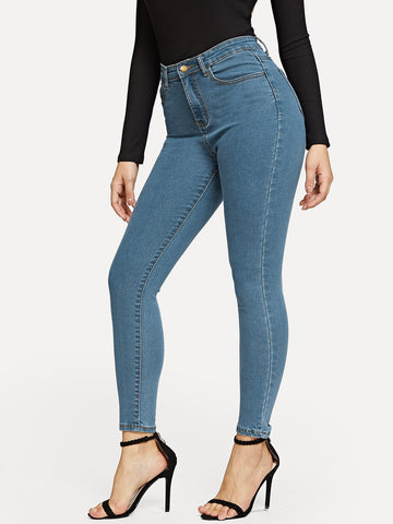 Jegging unicolore
