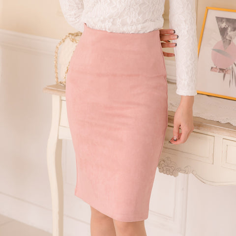 Multi Package Hip Pencil Midi Skirt