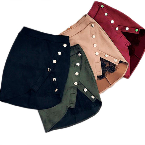 High Waist Pencil Mini jupe