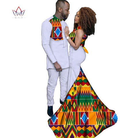 Couple Mode Robes africaines de vêtements  Ankara Style