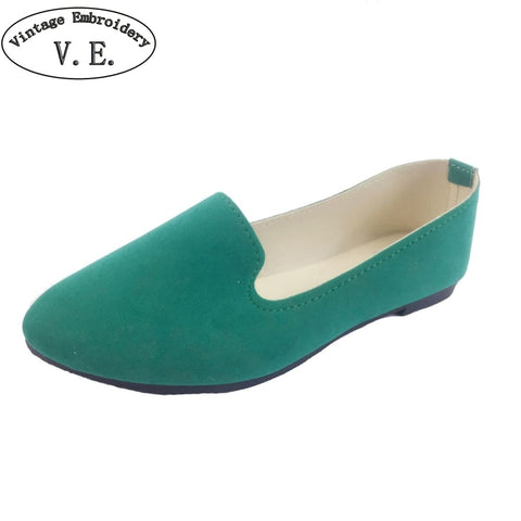 Women Flats Candy Color Woman Loafers