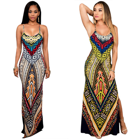 Robe Africaine Style chaud et robe d'impression sexy