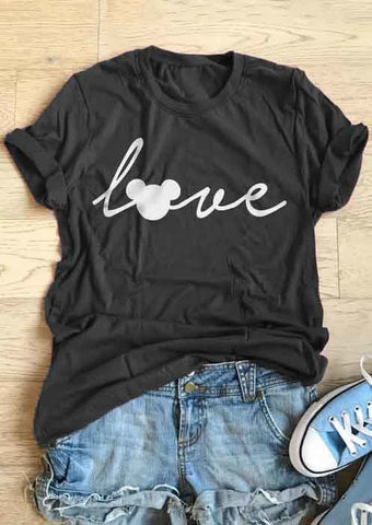 Love Mouse Short Sleeve T-Shirt