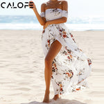 CALOFE Boho Print Long Party Dress - VRAIDJO