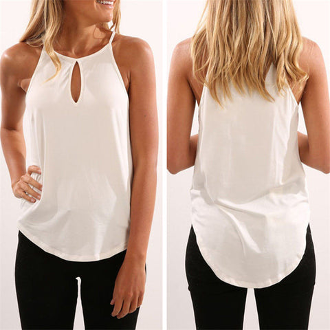 Tops Tees Sexy Hollow Out Sleeveless Shirt