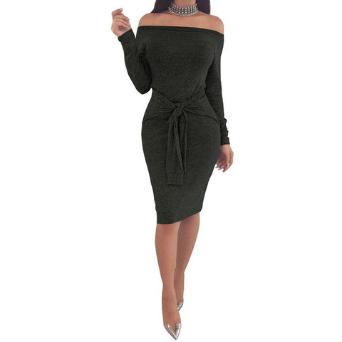 Pencil Dress Women Sexy Off Shoulder