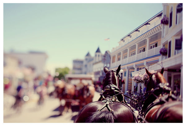 Downtown Mackinac Island photographed by Alicia Bock.
