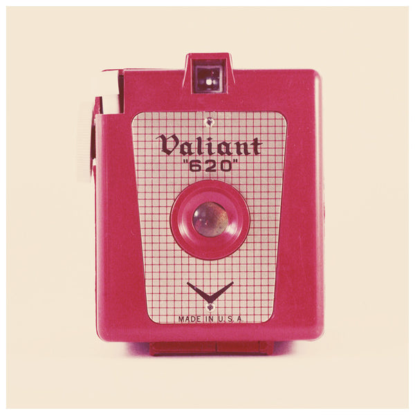 Vintage red Valiant camera. Photographed by Alicia Bock.
