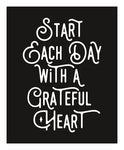 Grateful Heart Giclee Typography Print