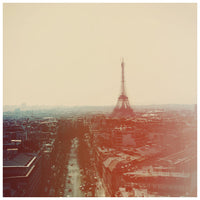 Vintage inspired photograph of the Eiffel Tower. Photographed by Alicia Bock.