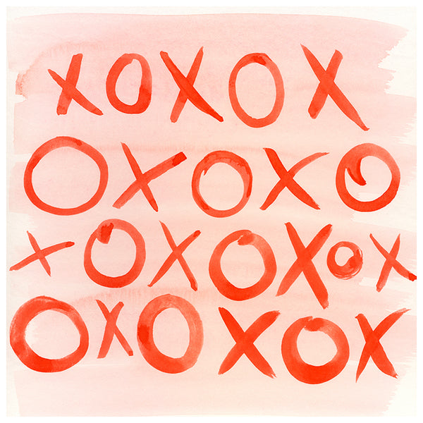 XOXO Watercolor Watercolor Print