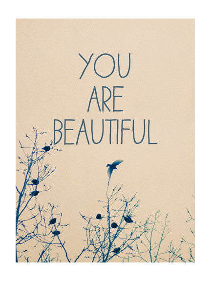 You Are Beautiful #3 - Card