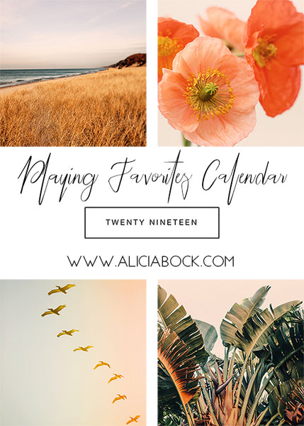 Playing Favorites : 2019 Calendar