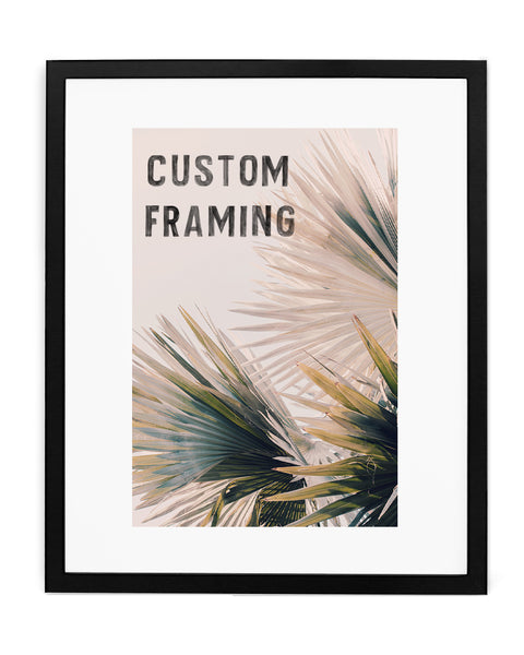 Custom Frame: Black Wood