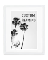 Custom Frame: White Wood
