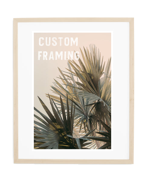 Custom Frame: Natural Wood