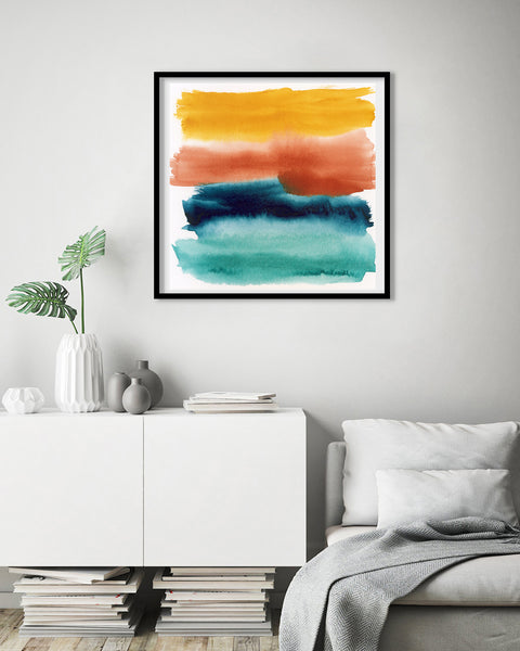 Rainbow Abstract #1 Fine Art Print
