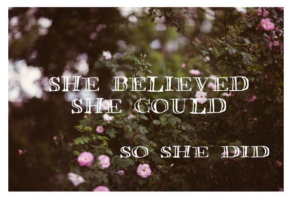 She Believed - Fine Art Photograph