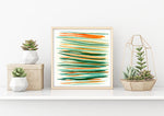Summer Stripes Watercolor Print