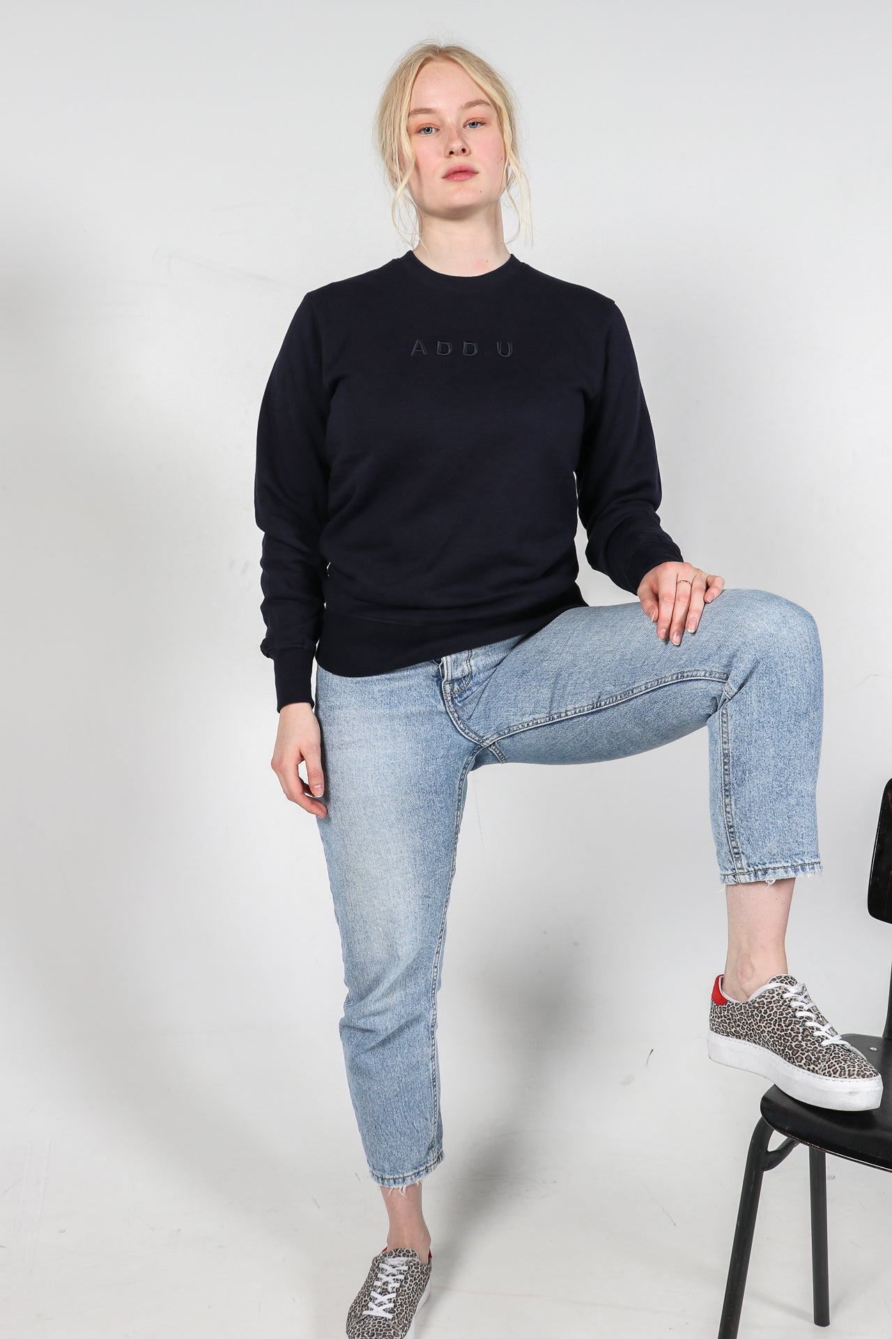 Skyhigh navy biologisch katoen sweater / women