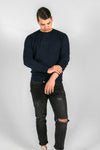Skyhigh navy biologisch katoen sweater / men