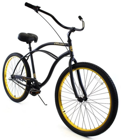 ZF Bikes Classic Beach Cruiser 3 Speed Mens Bicycle Bike