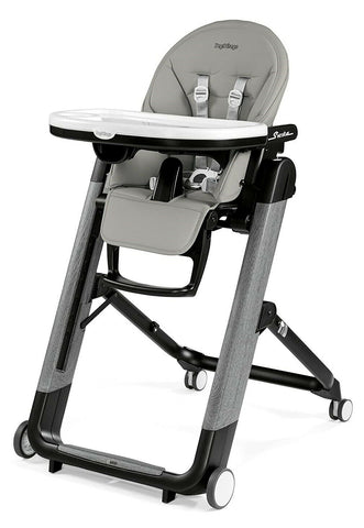 Peg Perego Siesta Ambiance Compact Fold Kids Highchair Recliner Grey