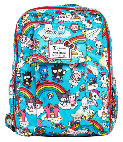 Ju Ju Be X Tokidoki X Sanrio MiniBe Backpack Baby Diaper Bag Rainbow Dreams