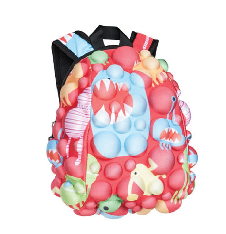 MadPax Bubble Surfaces Kids School Backpack Half Pack Monsters Under The Red