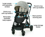 Graco Modes Element LX Travel System Stroller w SnugLock 35 LX Car Seat Lanier