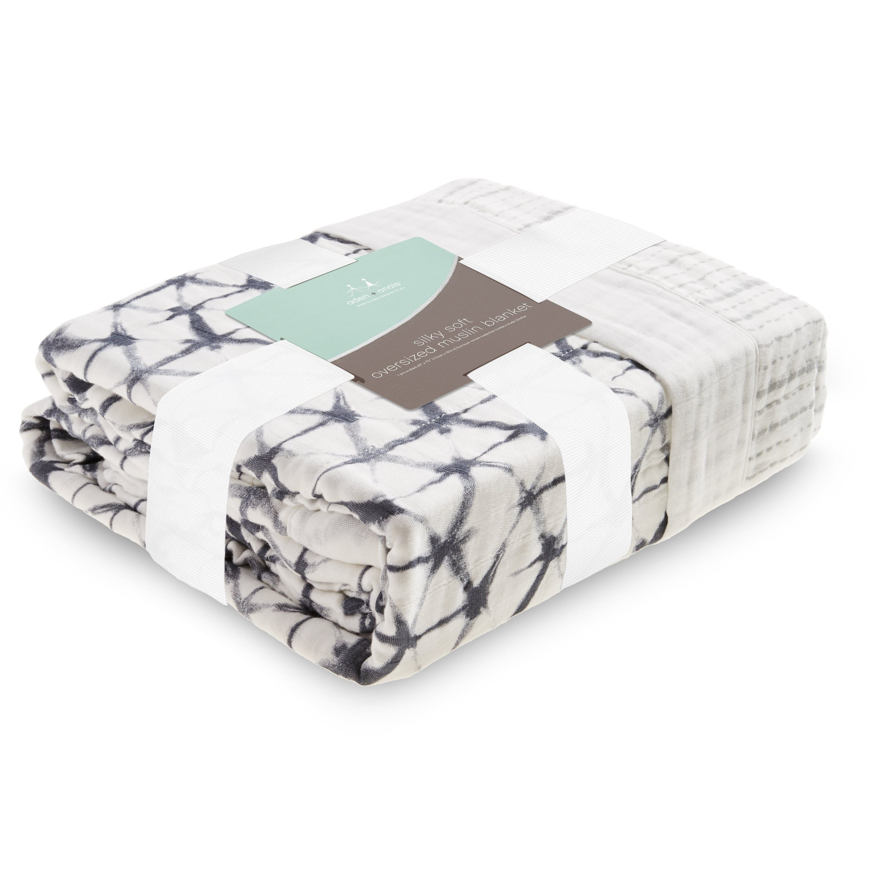 Aden /& Anais Oversized Silky Soft Muslin Baby Blanket Seaport-Fans NEW