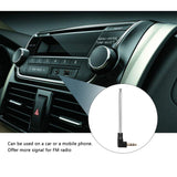 Onever 3.5mm FM Radio Antenna Retractable Aerial for Auto Car Mobile Cell Phone