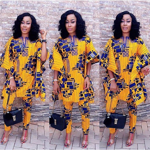 African women bazin printed dashiki dress