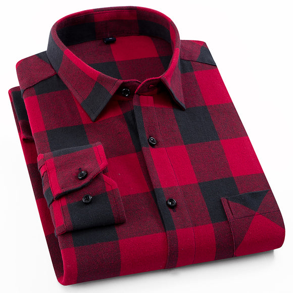 100% Cotton Casual Plaid Shirts