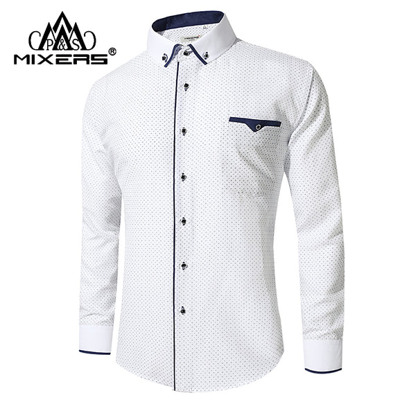 Long Sleeve Business Casual Shirts Men