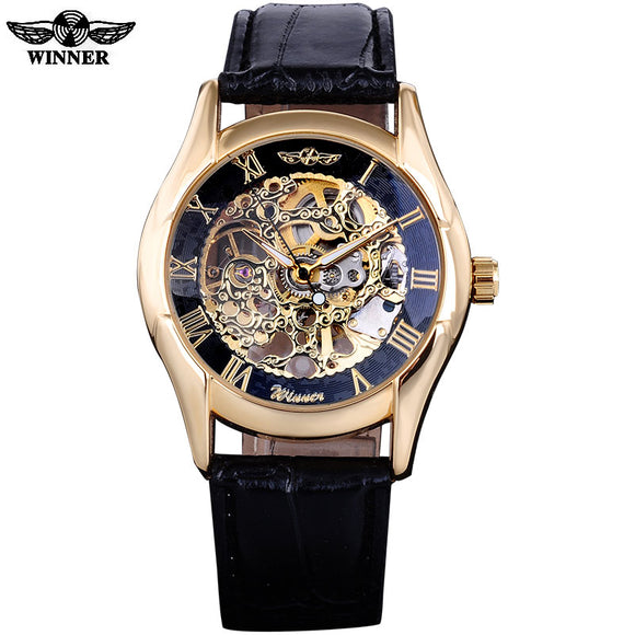 WINNER BRAND MEN MECHANICAL WATCHES  LEATHERBAND