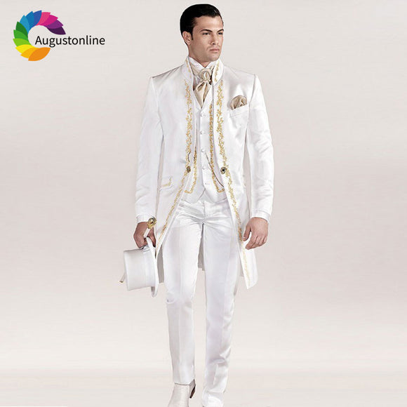 Wedding Suits for Man 3Piece Pants Vest Groom Tuxedo
