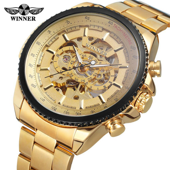 Winner Men Watch Luxury Skeleton Clocks Automatic Mechanical