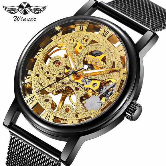 WINNER Classic Golden Mechanical Men Watch