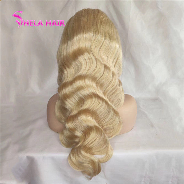 #613 Blonde 4x4 Lace Closure Wig Body Wave Shela Hair