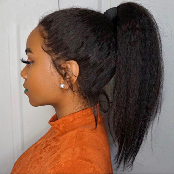 Flawless Full Lace Wig Natural Kinky Straight Can do any braid or bun ponytail