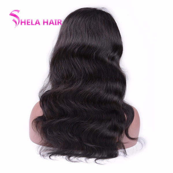 Glueless Full Lace Wig Body Wave Can do braid bun ponytail Classic Wavy